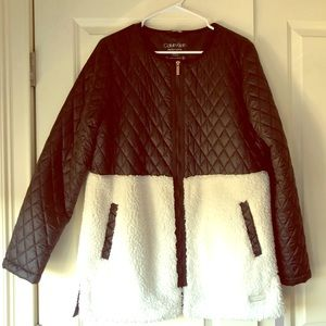 Calvin Klein Quilted Sherpa Jacket